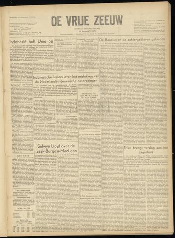 de Vrije Zeeuw 1956-02-14