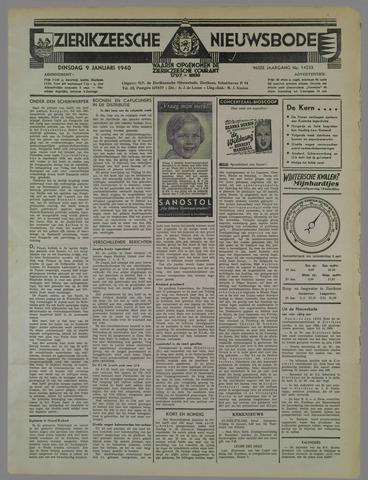 Zierikzeesche Nieuwsbode 1940-01-09
