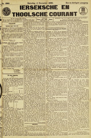 Ierseksche en Thoolsche Courant 1920-12-04
