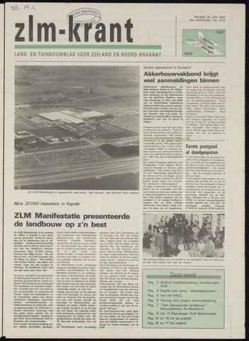 Zeeuwsch landbouwblad ... ZLM land- en tuinbouwblad 1993-06-25