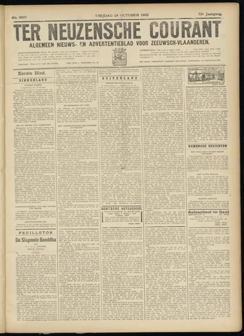 Ter Neuzensche Courant. Algemeen Nieuws- en Advertentieblad voor Zeeuwsch-Vlaanderen / Neuzensche Courant ... (idem) / (Algemeen) nieuws en advertentieblad voor Zeeuwsch-Vlaanderen 1932-10-28