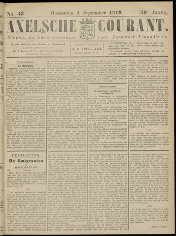 Axelsche Courant 1918-09-04