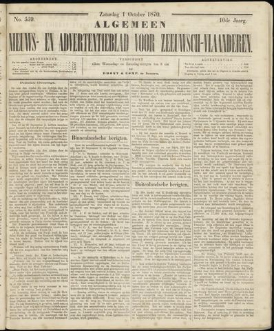 Ter Neuzensche Courant. Algemeen Nieuws- en Advertentieblad voor Zeeuwsch-Vlaanderen / Neuzensche Courant ... (idem) / (Algemeen) nieuws en advertentieblad voor Zeeuwsch-Vlaanderen 1870-10-01