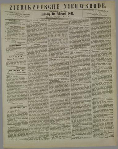 Zierikzeesche Nieuwsbode 1891-02-10
