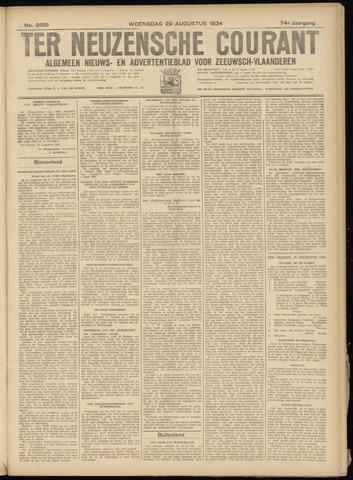 Ter Neuzensche Courant. Algemeen Nieuws- en Advertentieblad voor Zeeuwsch-Vlaanderen / Neuzensche Courant ... (idem) / (Algemeen) nieuws en advertentieblad voor Zeeuwsch-Vlaanderen 1934-08-29