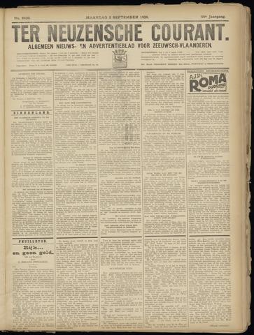 Ter Neuzensche Courant. Algemeen Nieuws- en Advertentieblad voor Zeeuwsch-Vlaanderen / Neuzensche Courant ... (idem) / (Algemeen) nieuws en advertentieblad voor Zeeuwsch-Vlaanderen 1929-09-02