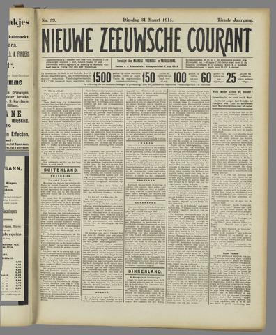 Nieuwe Zeeuwsche Courant 1914-03-31