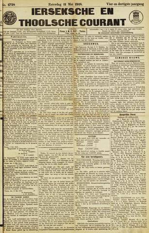 Ierseksche en Thoolsche Courant 1918-05-11