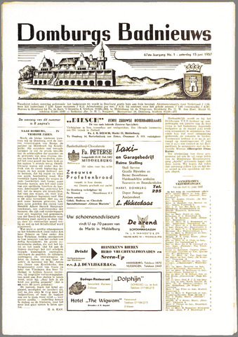 Domburgsch Badnieuws 1957