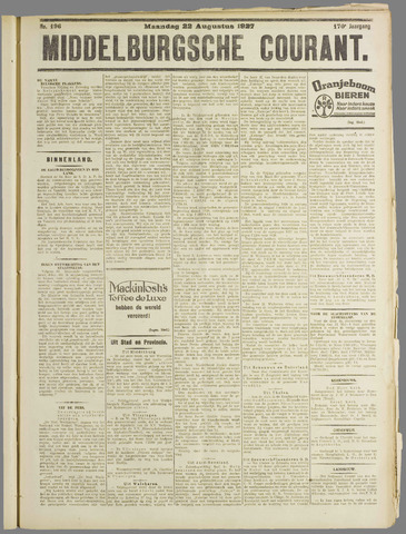 Middelburgsche Courant 1927-08-22