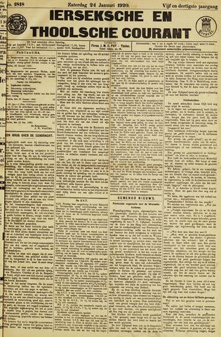 Ierseksche en Thoolsche Courant 1920-01-24