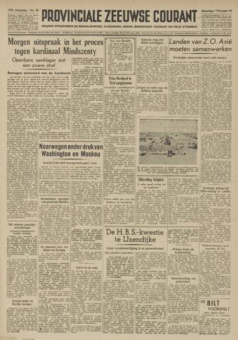 Provinciale Zeeuwse Courant 1949-02-07