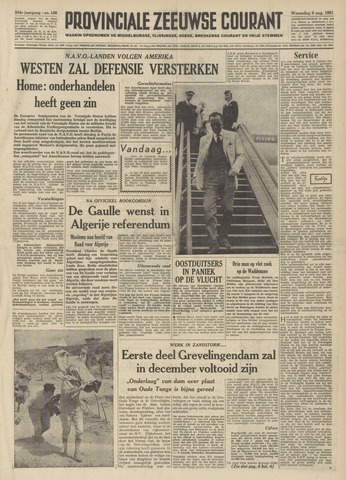 Provinciale Zeeuwse Courant 1961-08-09