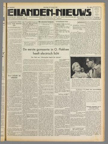 Eilanden-nieuws. Christelijk streekblad op gereformeerde grondslag 1949-10-22