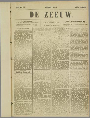 De Zeeuw. Christelijk-historisch nieuwsblad voor Zeeland 1891-04-07