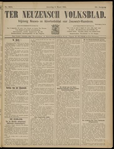 Ter Neuzensch Volksblad. Vrijzinnig nieuws- en advertentieblad voor Zeeuwsch- Vlaanderen / Zeeuwsch Nieuwsblad. Nieuws- en advertentieblad voor Zeeland 1915-03-06