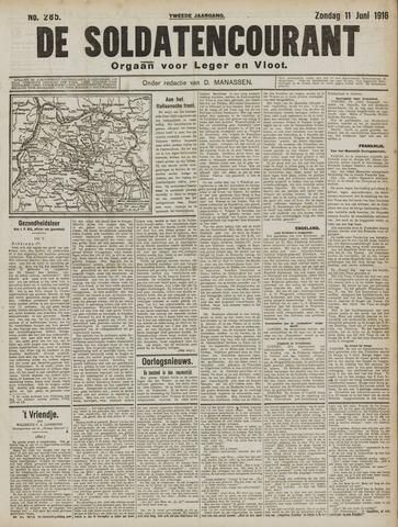 De Soldatencourant. Orgaan voor Leger en Vloot 1916-06-11