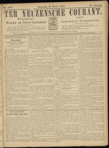 Ter Neuzensche Courant. Algemeen Nieuws- en Advertentieblad voor Zeeuwsch-Vlaanderen / Neuzensche Courant ... (idem) / (Algemeen) nieuws en advertentieblad voor Zeeuwsch-Vlaanderen 1911-10-26