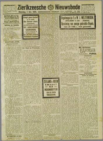 Zierikzeesche Nieuwsbode 1926-10-04