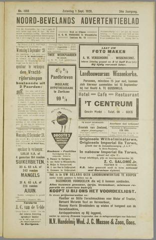 Noord-Bevelands Nieuws- en advertentieblad 1928-09-01