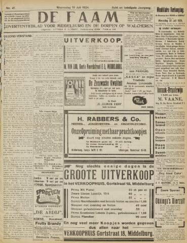 de Faam en de Faam/de Vlissinger 1924-07-16