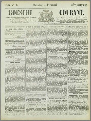 Goessche Courant 1896-02-04
