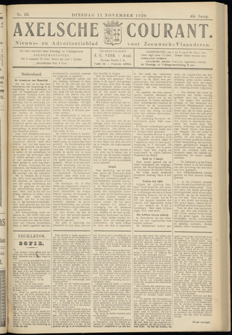 Axelsche Courant 1930-11-11