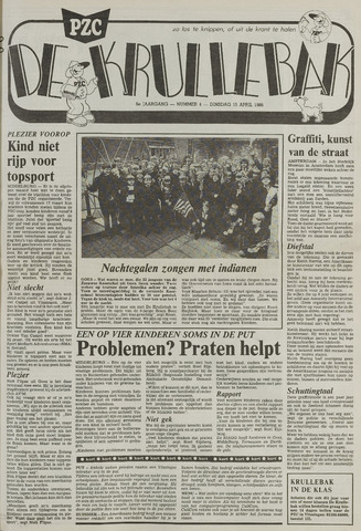 Provinciale Zeeuwse Courant katern Krullenbak (1981-1999) 1986-04-15