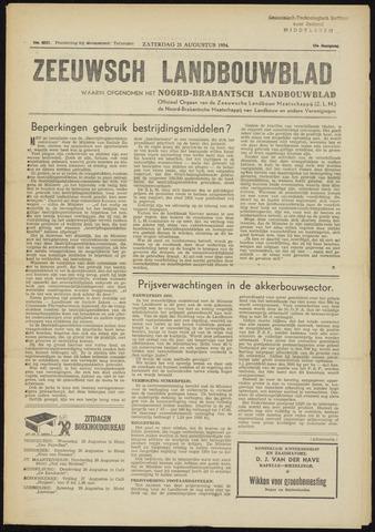 Zeeuwsch landbouwblad ... ZLM land- en tuinbouwblad 1954-08-21