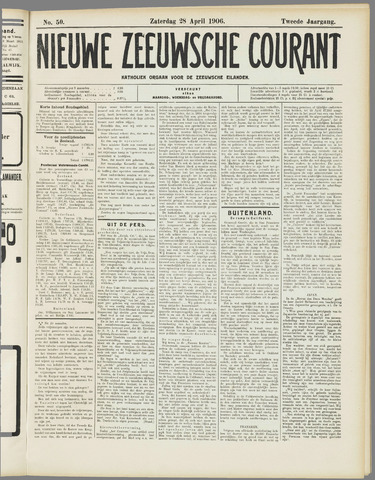 Nieuwe Zeeuwsche Courant 1906-04-28