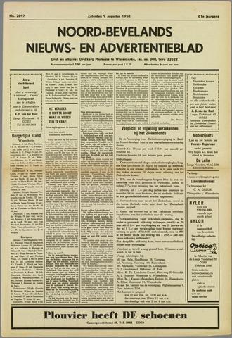 Noord-Bevelands Nieuws- en advertentieblad 1958-08-09