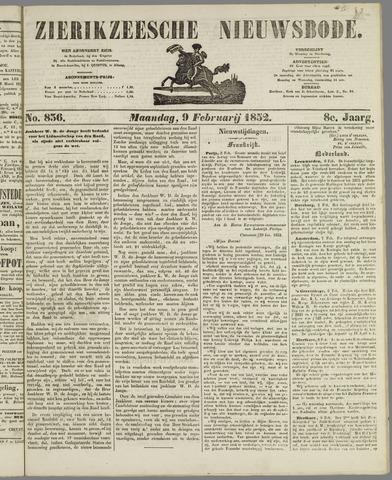 Zierikzeesche Nieuwsbode 1852-02-09