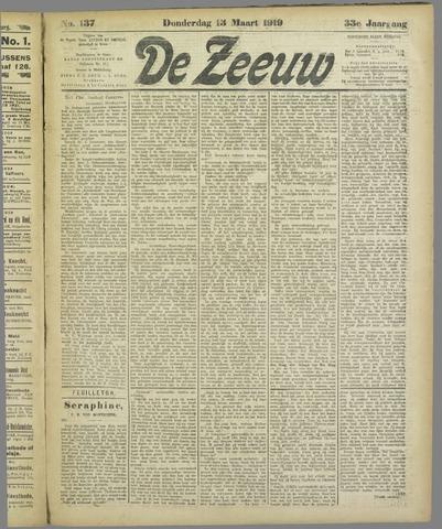 De Zeeuw. Christelijk-historisch nieuwsblad voor Zeeland 1919-03-13