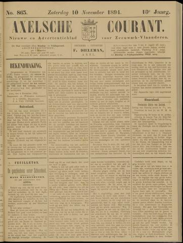 Axelsche Courant 1894-11-10