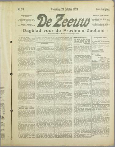 De Zeeuw. Christelijk-historisch nieuwsblad voor Zeeland 1929-10-23