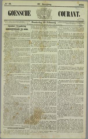 Goessche Courant 1862-02-13