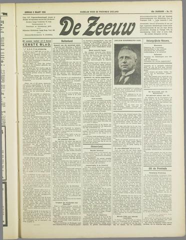 De Zeeuw. Christelijk-historisch nieuwsblad voor Zeeland 1934-03-06