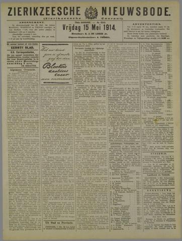 Zierikzeesche Nieuwsbode 1914-05-15