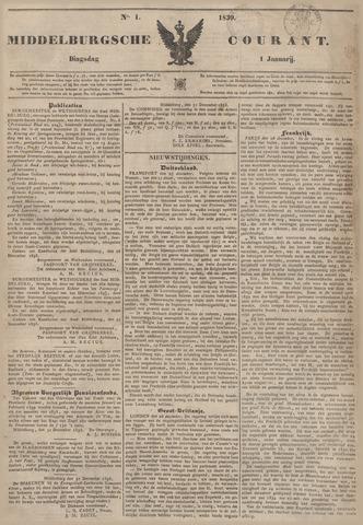 Middelburgsche Courant 1839