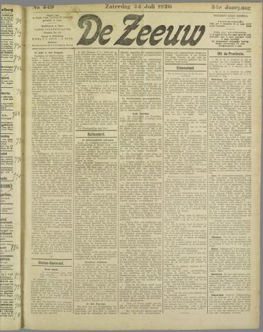 De Zeeuw. Christelijk-historisch nieuwsblad voor Zeeland 1920-07-24