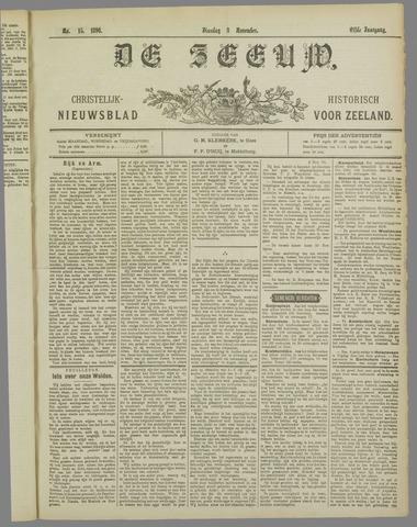 De Zeeuw. Christelijk-historisch nieuwsblad voor Zeeland 1896-11-03