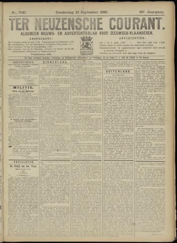 Ter Neuzensche Courant. Algemeen Nieuws- en Advertentieblad voor Zeeuwsch-Vlaanderen / Neuzensche Courant ... (idem) / (Algemeen) nieuws en advertentieblad voor Zeeuwsch-Vlaanderen 1920-09-23