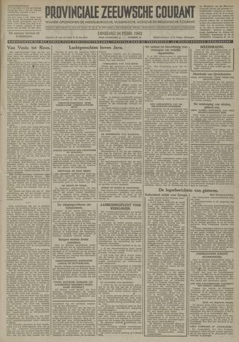 Provinciale Zeeuwse Courant 1942-02-24