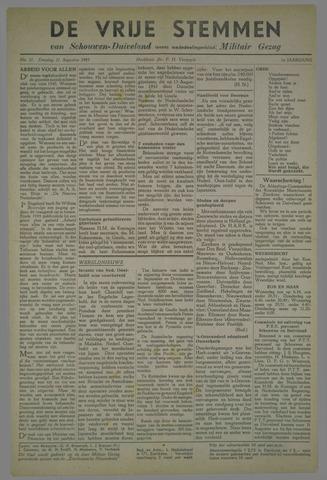 Vrije Stemmen van Schouwen-Duiveland, tevens mededeelingenblad Militair Gezag 1945-08-21