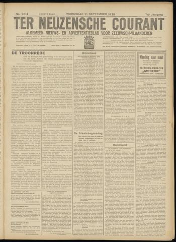 Ter Neuzensche Courant. Algemeen Nieuws- en Advertentieblad voor Zeeuwsch-Vlaanderen / Neuzensche Courant ... (idem) / (Algemeen) nieuws en advertentieblad voor Zeeuwsch-Vlaanderen 1938-09-21