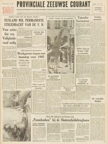 Provinciale Zeeuwse Courant 1964-07-07