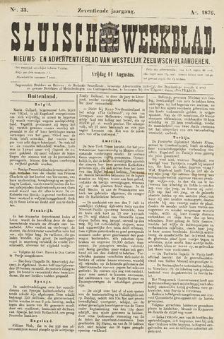 Sluisch Weekblad. Nieuws- en advertentieblad voor Westelijk Zeeuwsch-Vlaanderen 1876-08-11