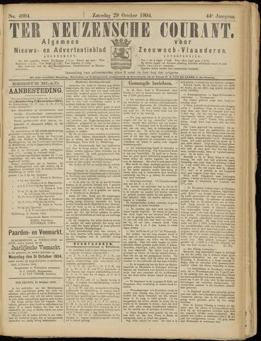 Ter Neuzensche Courant. Algemeen Nieuws- en Advertentieblad voor Zeeuwsch-Vlaanderen / Neuzensche Courant ... (idem) / (Algemeen) nieuws en advertentieblad voor Zeeuwsch-Vlaanderen 1904-10-29