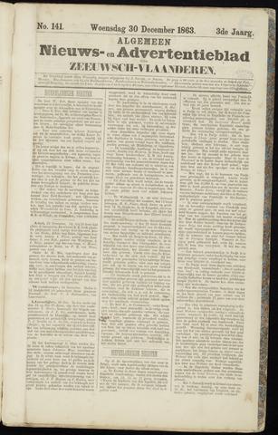 Ter Neuzensche Courant. Algemeen Nieuws- en Advertentieblad voor Zeeuwsch-Vlaanderen / Neuzensche Courant ... (idem) / (Algemeen) nieuws en advertentieblad voor Zeeuwsch-Vlaanderen 1863-12-30