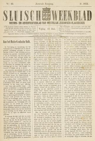 Sluisch Weekblad. Nieuws- en advertentieblad voor Westelijk Zeeuwsch-Vlaanderen 1875-06-11